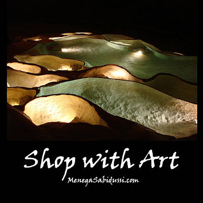 Photograph - Lit Underground Cave Pools - Shop With Art by Menega Sabidussi