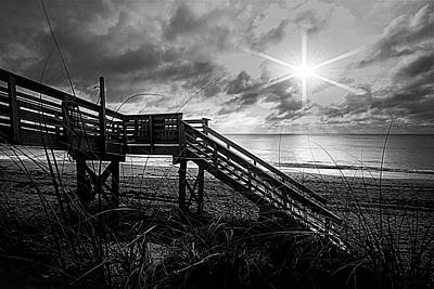 Photograph - Lit Up In Black And White by Debra and Dave Vanderlaan