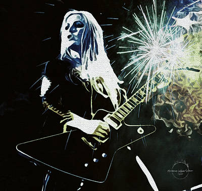 Digital Art - Lita Ford by Absinthe Art By Michelle LeAnn Scott