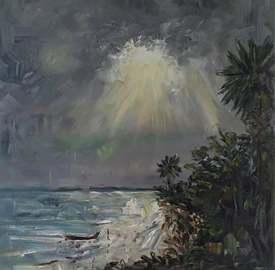 Lake Low Country Painting - Litchfield Inlet  by Tommy Beaver