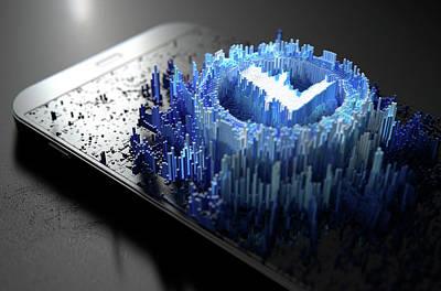 Virtual Digital Art - Litecoin Cloner Smartphone by Allan Swart