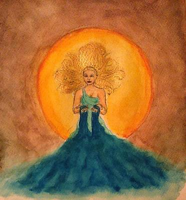 Norse Goddess Painting - Litha by Jennie Hallbrown