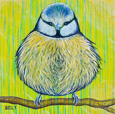 Titmouse Painting - Littl' Bit by Christine Belt