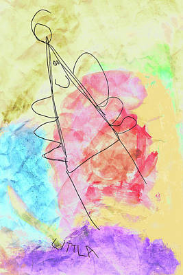Mixed Media - Littla - The Little Angel by Nikolyn McDonald