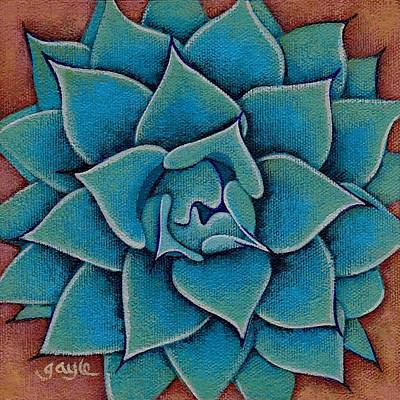 Painting - Little Agave by Gayle Faucette Wisbon
