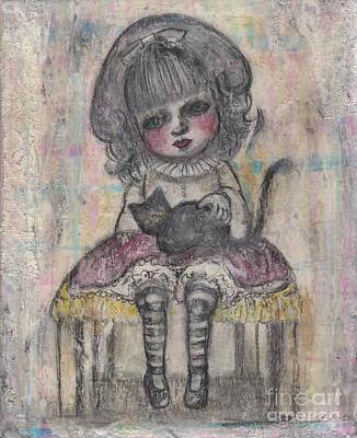Avant Garde Mixed Media - Little Alice by Akiko Okabe