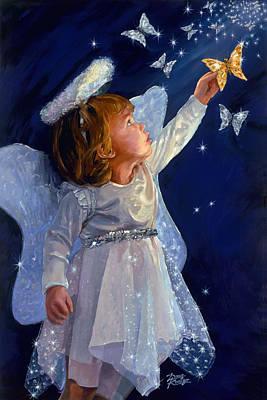Painting - Little Angel by Doug Kreuger