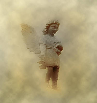Cherubim Digital Art - Little Angel In The Clouds by Bill Cannon