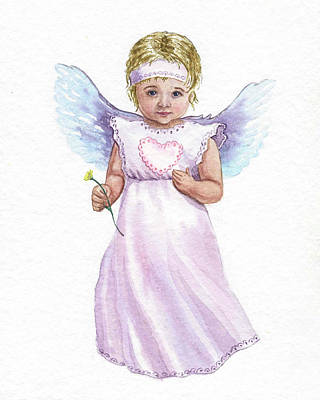 Painting - Little Angel  by Irina Sztukowski
