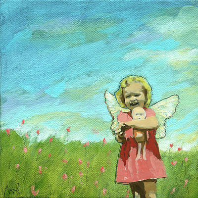Mixed Media - Little Angel by Linda Apple