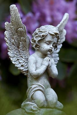 Little Angel Art Print by Marc Huebner