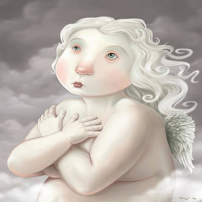Painting - Little Angel by Simon Sturge