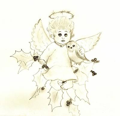 Little Angel Art Print by Sonya Chalmers