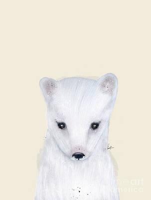 Painting - Little Arctic Fox by Bleu Bri