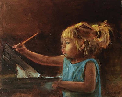 Painting - Little Artist by Lynne Atwood