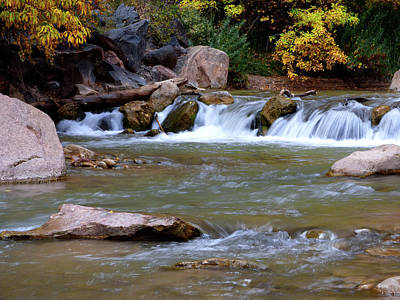 Photograph - Little Autumn Waterfall by Marcia Socolik