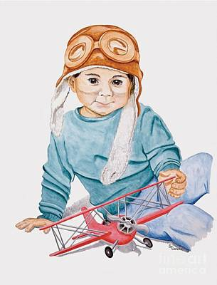 Garvin Painting - Little Aviator by Stacy Garvin