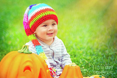 Photograph - Little Baby Enjoying Halloween Holiday by Anna Om