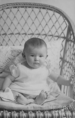 Photograph - Little Baby On A Big Chair by Jutta Maria Pusl