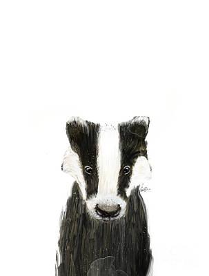 Painting - Little Badger by Bleu Bri