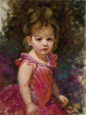 Painting - Little Ballerina by Barbara Jones