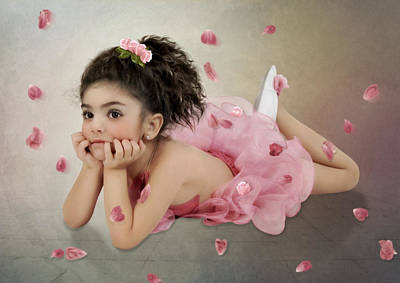 Little Ballerina In Pink Art Print by Margarita Nizharadze