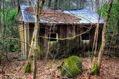 Photograph - Little Barn Falling by Mike Eingle