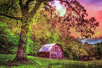 Photograph - Little Barn In The Smokies by Debra and Dave Vanderlaan