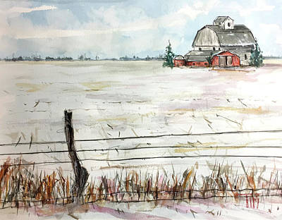 Painting - Little Barn On The Dairy by Tim Ross