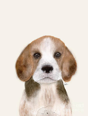 Beagle Puppies Painting - Little Beagle by Bri B