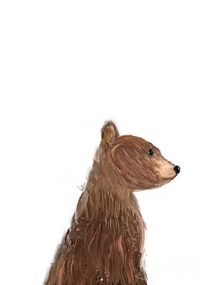 Painting - Little Bear Brown by Bleu Bri