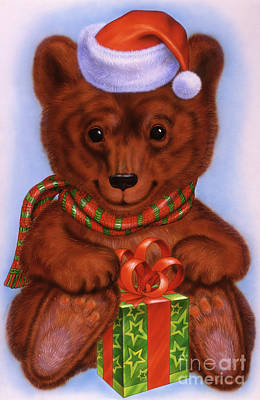 Brown Bear Mixed Media - Little Bear Cub 2 by Michael Seleznev