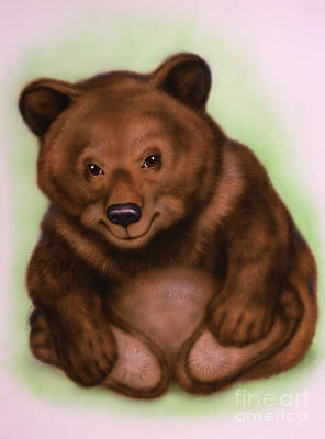 Brown Bear Mixed Media - Little Bear Cub 4 by Michael Seleznev
