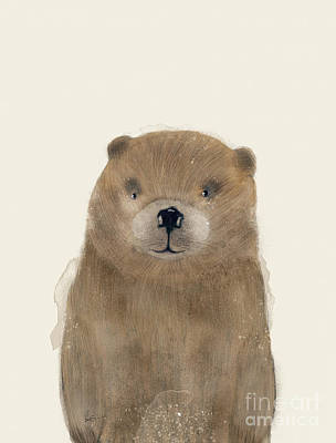 Beaver Painting - Little Beaver by Bleu Bri