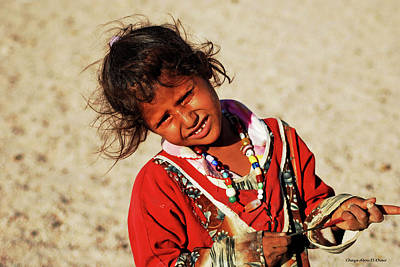 Photograph - Little Bedouin Girl by Chaza Abou El Khair
