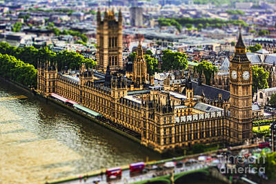 Big Ben Photograph - Little Ben by Andrew Paranavitana