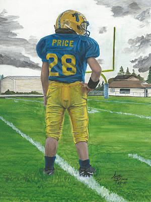 Little League Painting - Little Big Brother by Austin Price
