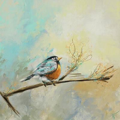 Abstract Wildlife Painting - Little Bird 3473 by Jai Johnson
