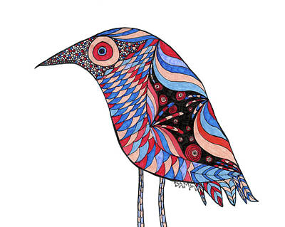 Drawing - Little Bird by Barbara McConoughey