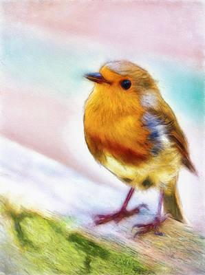 Tweets Digital Art - Little Bird by John K Woodruff
