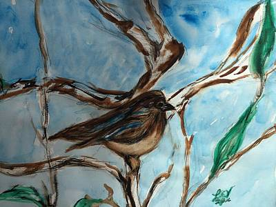 Painting - Little Bird by Lucille Valentino