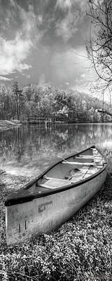 Photograph - Little Bit Of Heaven Black And White Panorama by Debra and Dave Vanderlaan