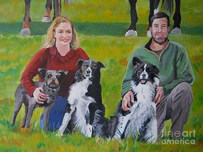 Painting - Little Bit's New Family by Stella Sherman