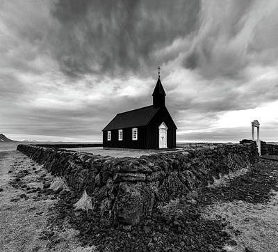 Reindeer Wall Art - Photograph - Little Black Church 2 by Larry Marshall