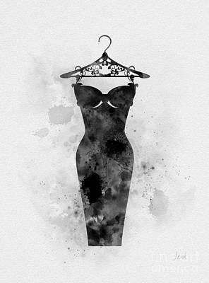Mixed Media - Little Black Dress by Rebecca Jenkins