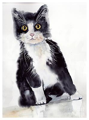Adorable Wall Art - Painting - Little Black Scamp by Suzann's Art