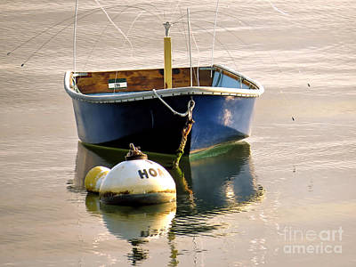 Photograph - Little Blue Boat by Janice Drew