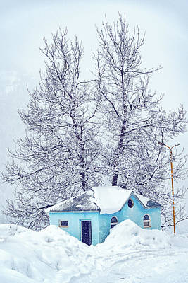Little Blue House Art Print by Svetlana Sewell