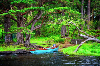 Photograph - Little Blue Rowboat by Debra and Dave Vanderlaan