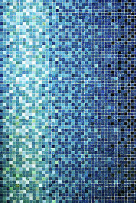 Little Blue Tiles Art Print